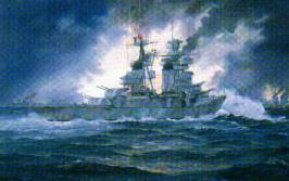Painting of cruiser Fiume